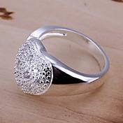 指輪 日常 / カジュアル ジュエリー 純銀製 女性 指輪 / ステートメントリング 1個,8 シルバー