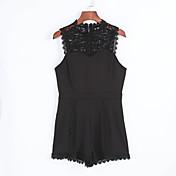 Dámské Lehce elastické Polyester Kombinézy Velké velikosti / Sexy Bez rukávů