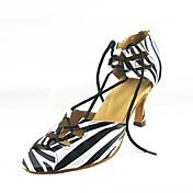 Zapatos de baile(Negro) -Latino-Personalizables-Tacón Stiletto