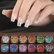 12 Nail Art Decoración Las perlas de diamantes de imitación maquillaje cosmético Nail Art