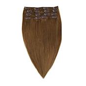 バージンレミー人間の髪の毛の拡張子の7pieces /セット#8 14-20inch 70グラムの22inchの100グラムでクリップ
