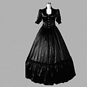 Una Sola Pieza/Vestidos Lolita Clásica y Tradicional Lolita Cosplay Vestido  de Lolita Un Color Longitud Larga Vestido por Satén