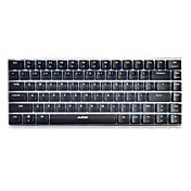 Ajazz ak33 teclado de juegos, 82 teclas de diseño clásico, interruptor de eje transparente