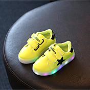 Za djevojčice Atletičarke tenisice Proljeće / Jesen / Zima Udobne cipele PU Ležerne prilike Ravna potpetica LED Žuta / Ružičasta / Bijela