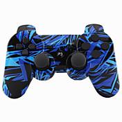Joystick inalámbrico bluetooth dualshock3 sixaxis controlador recargable gamepad para ps3 (multicolor)