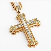 Pánské Dámské Náhrdelníky s přívěšky Slitina Cross Shape Visací Zlatá Šperky Svatební Párty Denní Vánoční dárky 1ks