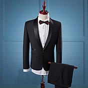 costumes Hommes,Couleur Pleine Décontract...