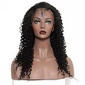 黒人女性120%密度インドの変態カーリー完全なレース人間の髪の毛のかつら完全なレースのかつらのため7aの完全なレース人間の髪の毛のかつら