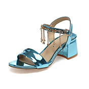 Sandály-Personalizované materiály Syntetika Třpytky-Pohodlné Novinky-Dámské-Modrá Růžová Červená Zlatá Mandlová-Svatba Kancelář Šaty