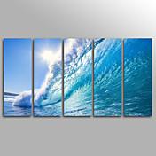 キャンバスセット アンフレームキャンバスプリント 風景 Modern,5枚 キャンバス 縦長 版画 壁の装飾 For ホームデコレーション