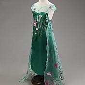 Vestido Chica deJacquard-Poliéster / Mezcla de Algodón / Malla-Verano / Primavera / Otoño-Verde
