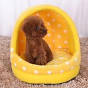 ネコ 犬 ベッド ペット用 マット/パッド 水玉柄 ソフト イエロー ブルー ピンク