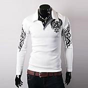 Masculino Camiseta Esportes Para Noite Casual Bandagem Boho Moda de Rua Activo Todas as Estações,Estampado Algodão Colarinho de Camisa