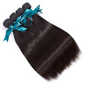 人間の髪編む ペルービアンヘア ストレート 12ヶ月 4個 ヘア織り