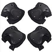 4個のブラックホークプロテクタCS屋外乗馬ニーパッド肘ブレースセットオートバイアクセサリー