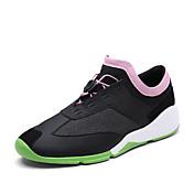 Unisex-Tacón Plano-Suelas con luz-Zapatillas de deporte-Informal-PU-Blanco Negro Gris Rosado y Blanco
