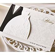 Doblado Triple Invitaciones De Boda 50-Tarjetas de invitación Estilo clásico Papel de tarjeta