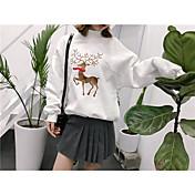 サイン研究所鹿の刺繍ステッチヘッジセーター2色