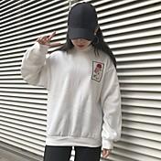 符号2016秋と冬のハイネック韓国BF風が刺繍ゆるい男性と女性のプラスベルベットのセーターの潮をバラ