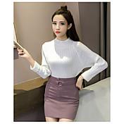 firmar nuevo otoño mujeres coreanas y engrosamiento de invierno color sólido cuello alto flojo de cobertura de la mujer suéter de manga