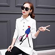 dugih rukava bijela košulja ženska korean fan labav divlje 2017 proljeće korean dugo stavak košulja