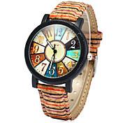 女性用 ファッションウォッチ 腕時計 ウッド 多色 クォーツ ウッド バンド 虹色 多色
