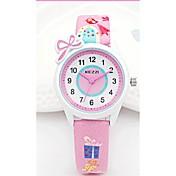 KEZZI Niño Reloj de Moda Reloj de Pulsera Cuarzo Japonés PU Banda Casual Blanco Azul Rosa Morado