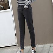 8 firmar nuevos pantalones vaqueros grises femeninos pantalones harén pantalones de cintura coreano pantalones sueltos rábano