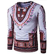 カジュアル/普段着 Tシャツ,シンプル ハートカット プリント マルチカラー コットン 長袖