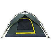 Makino 3 a 4 Personas Tienda Doble Carpa para camping Una Habitación Tienda de Campaña Automática Impermeable Secado rápido