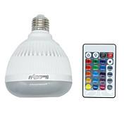 youoklightの1pcs E26 / E27 4ワットブルートゥースRGBミュージックのランプリモコンミニスマートオーディオスピーカーRGB音楽はディスコ誕生日パーティークラブのための電球を導きました