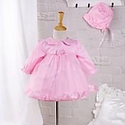 Vestido Bebé-Noche-Un Color-Poliéster-Primavera Otoño-Rosa
