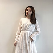 新しい女性に署名' sのファッション底入れドレス気質長袖のドレスと長いセクションスリム