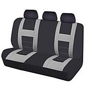 2017 asiento de coche universal cubre las cubiertas del asiento trasero de color negro gris