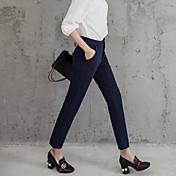 2017 signo pantimedias mujeres pantalones elásticos delgados pantalones de cintura delgadas ocasionales de los pantalones pies pantalones