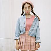 2016 versión coreana firmar cuatro estaciones salvaje de la nueva chaqueta de mezclilla