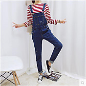 Instituto de Corea del nuevo pantalones de mezclilla casual suelto tirantes correa fina pantalones pantalones siameses marea femenina