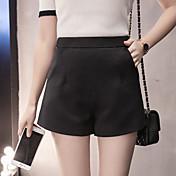 firmar primavera 2017 nuevas mujeres de cintura alta una palabra pantalones cortos de los pantalones de pierna ancha ocasional polainas