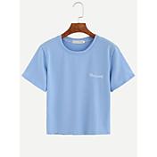 2016ヨーロッパとアメリカンスタイルの綿のTシャツは、薄い野生の女性のロシ市の短いTシャツの刺繍文字t
