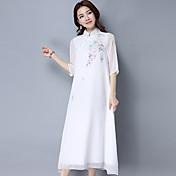 禅の手描きのシルクのドレスのファンアート女性の漢の衣類のドレス