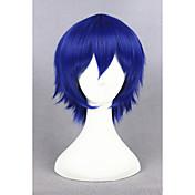 Mujer Pelucas sintéticas Sin Tapa Corto Liso Azul Peluca de cosplay Las pelucas del traje
