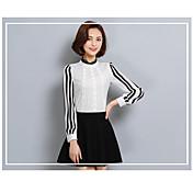 Bluza Ženske,Jednostavno Ležerno/za svaki dan Color block-Dugih rukava Uski okrugli izrez Drugo