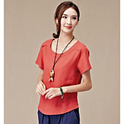 記号Tシャツ2017夏の新しいレトロな韓国文学緩い綿ラウンドネック半袖Tシャツの女性