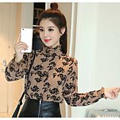 Realmente haciendo 2017 primavera nuevas blusas impresión camisa de gasa camisa versión coreana era camisa delgada mujer