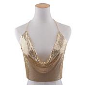 女性 ボディジュエリー ボディチェーン/ベリーチェーン 合金 ファッション リーフ ゴールド ブラック シルバー ジュエリー パーティー 誕生日 カジュアル クリスマスギフト 1個