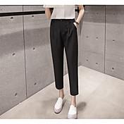 レディース モダンダンス ミッドライズ ペンシルベイト 伸縮性 活発的 パンツ 純色 純色