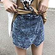 Mujer Un Color Tiro Medio strenchy Ajustado Pantalones,Lápices Color sólido Color puro