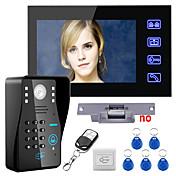 Toque tecla 7 lcd rfid senha vídeo porta telefone sistema de interfone kit elétrico greve fechadura sem fio controle remoto desbloquear