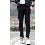 hombres nuevos versión nueve puntos pantalones vaqueros coreano de los pantalones vaqueros ocasionales masculinos pantalones delgados