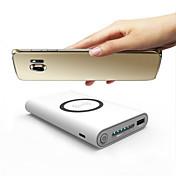 10000mAhbanco de la energía de la batería externaFundas de Batería para Dispositivos Samsung QC 3.0 QC 2.0 Cargador Wireless Multisalida